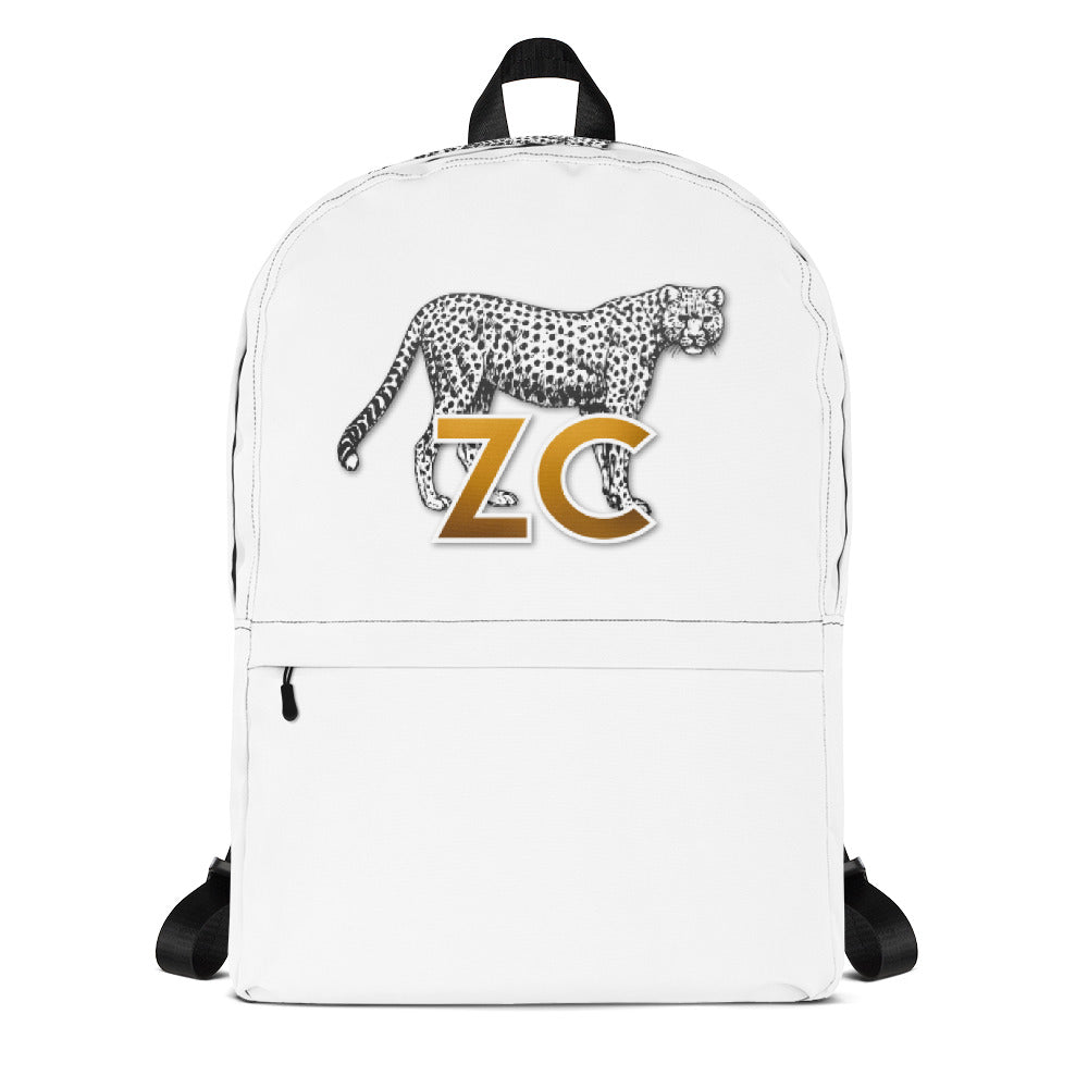 Zillionaire Creations cheetah logo backpack