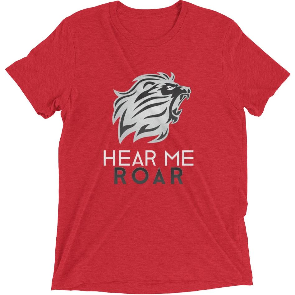 Hear Me Roar short sleeve t-shirt (Red)