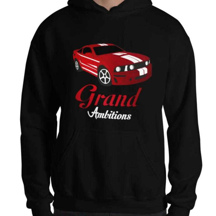 Grand Ambitions Hoodie (Black/Red)