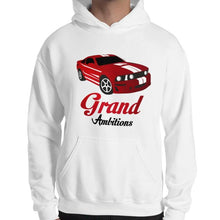 Load image into Gallery viewer, Grand Ambitions Hoodie (White/Navy)