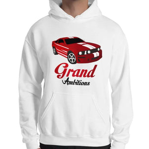 Grand Ambitions Hoodie (White/Navy)