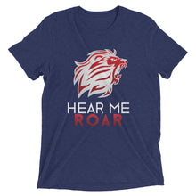Load image into Gallery viewer, Hear Me Roar short sleeve t-shirt (Black/Navy)