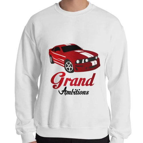 Grand Ambitions Sweatshirt (White/Navy)