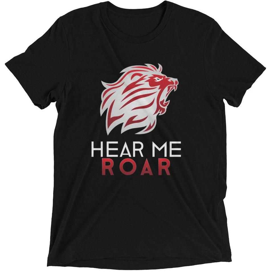 Hear Me Roar short sleeve t-shirt (Black/Navy)