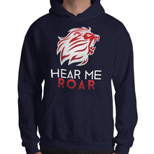 Load image into Gallery viewer, Hear Me Roar Hoodie (Black/Navy)
