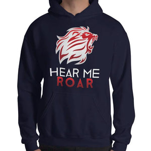 Hear Me Roar Hoodie (Black/Navy)