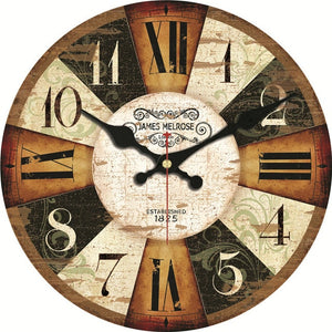 Vintage Wooden Clocks - Wall Art for Home, Cafe, Office