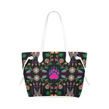 Geometric Floral Fall - Black Clover Canvas Tote Bag