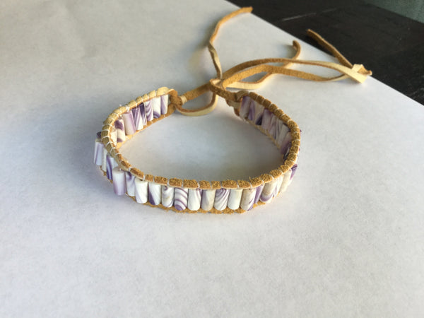 Single Row Wampum Bracelet