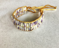 Two row wampum Bracelet