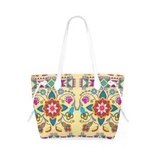 Geometric Floral Winter - Vanilla Clover Canvas Tote Bag