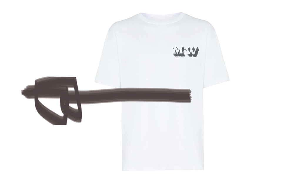 MENS CUSTOM INITIAL TEE - WHITE