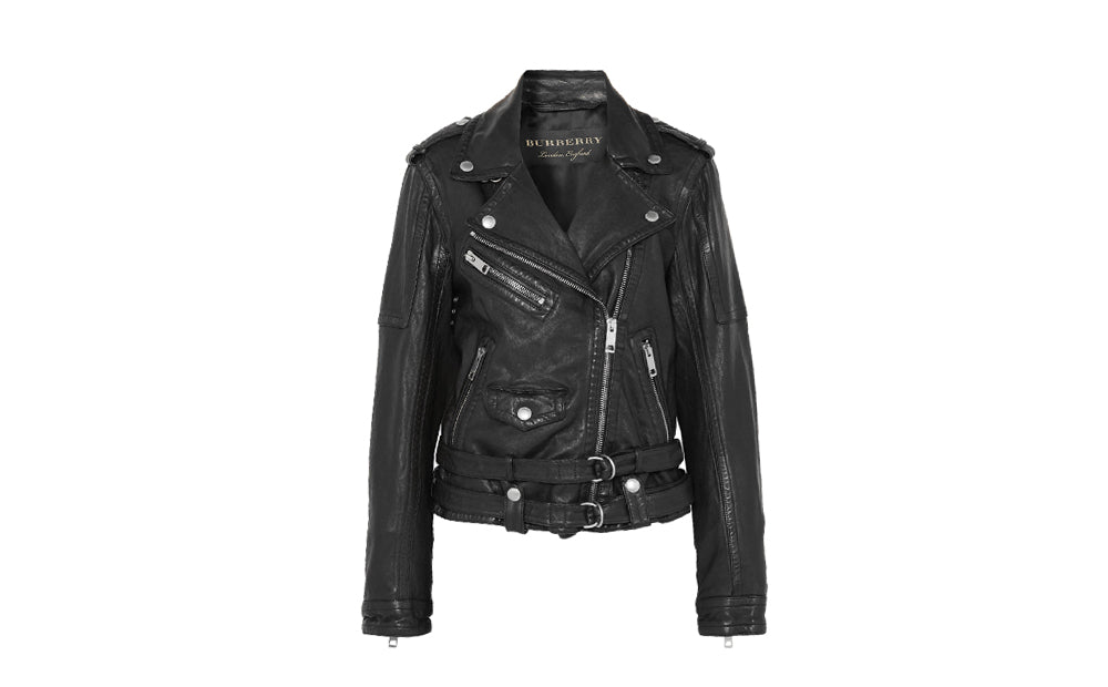 WASHED-LEATHER BIKER JACKET