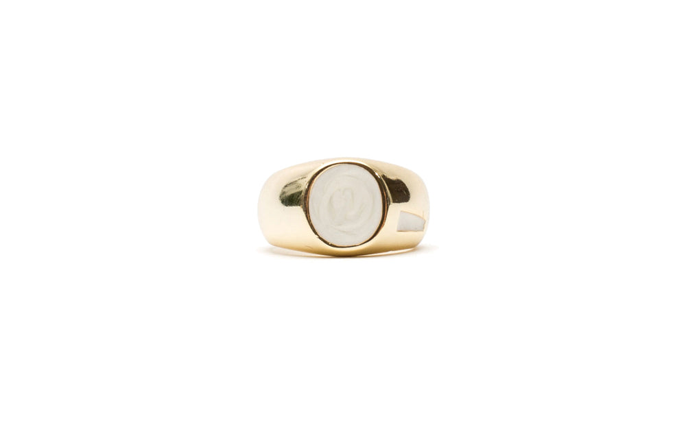 x GOLD ONYX PINKY RING