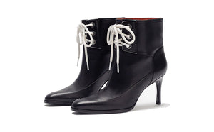 X AGATHA LACE-UP BOOTIE