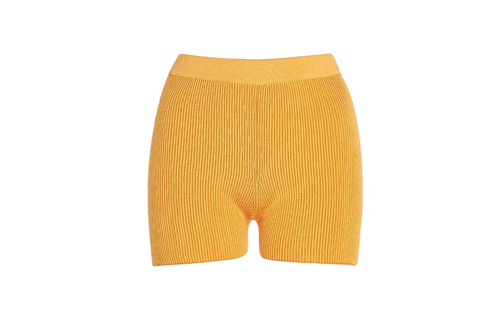 X ARANCIA FITTED RIBBED-KNIT SHORTS