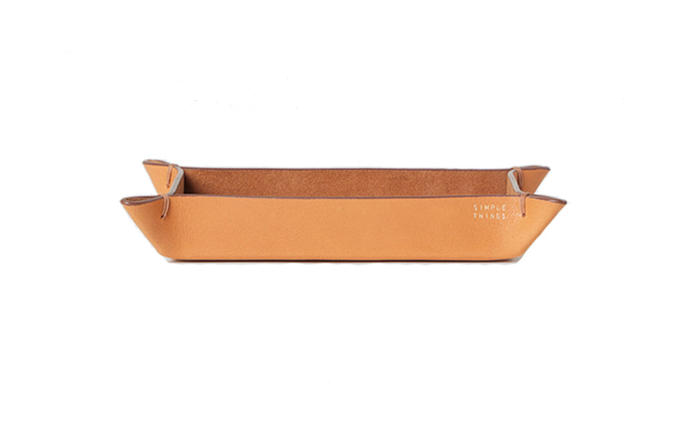 RECTANGULAR LEATHER TRAY