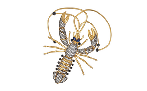 x LOBSTER BROOCH