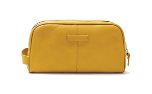 YELLOW TOILETRY BAG