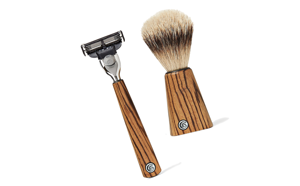 ZEBRANO WOOD SHAVING SET