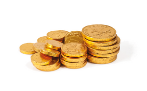 x CHOCOLATE GOLD COINS