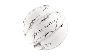 WHITE MARBLE BASKETBALL