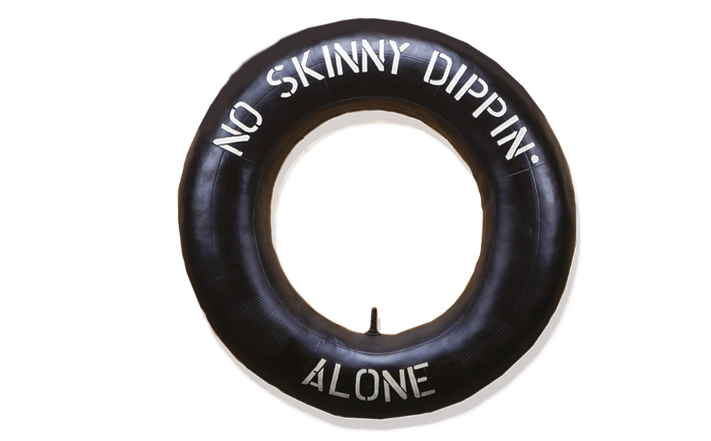 NO SKINNY DIPPING ALONE