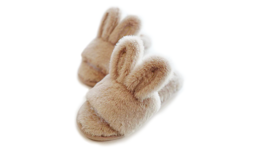 FLUFFY RABBIT SLIPPERS