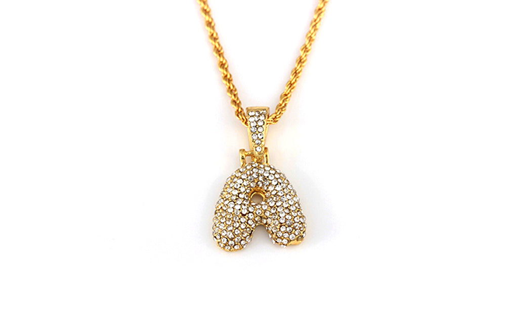 DIAMOND A-Z PENDANT NECKLACE