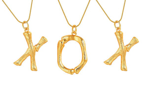 BAMBOO LETTER NECKLACE