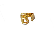 gold luxury alphabet rings