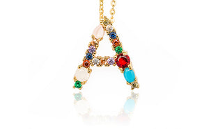 JEWEL A-Z PENDANT NECKLACE
