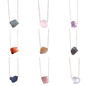NATURAL QUARTZ NECKLACE