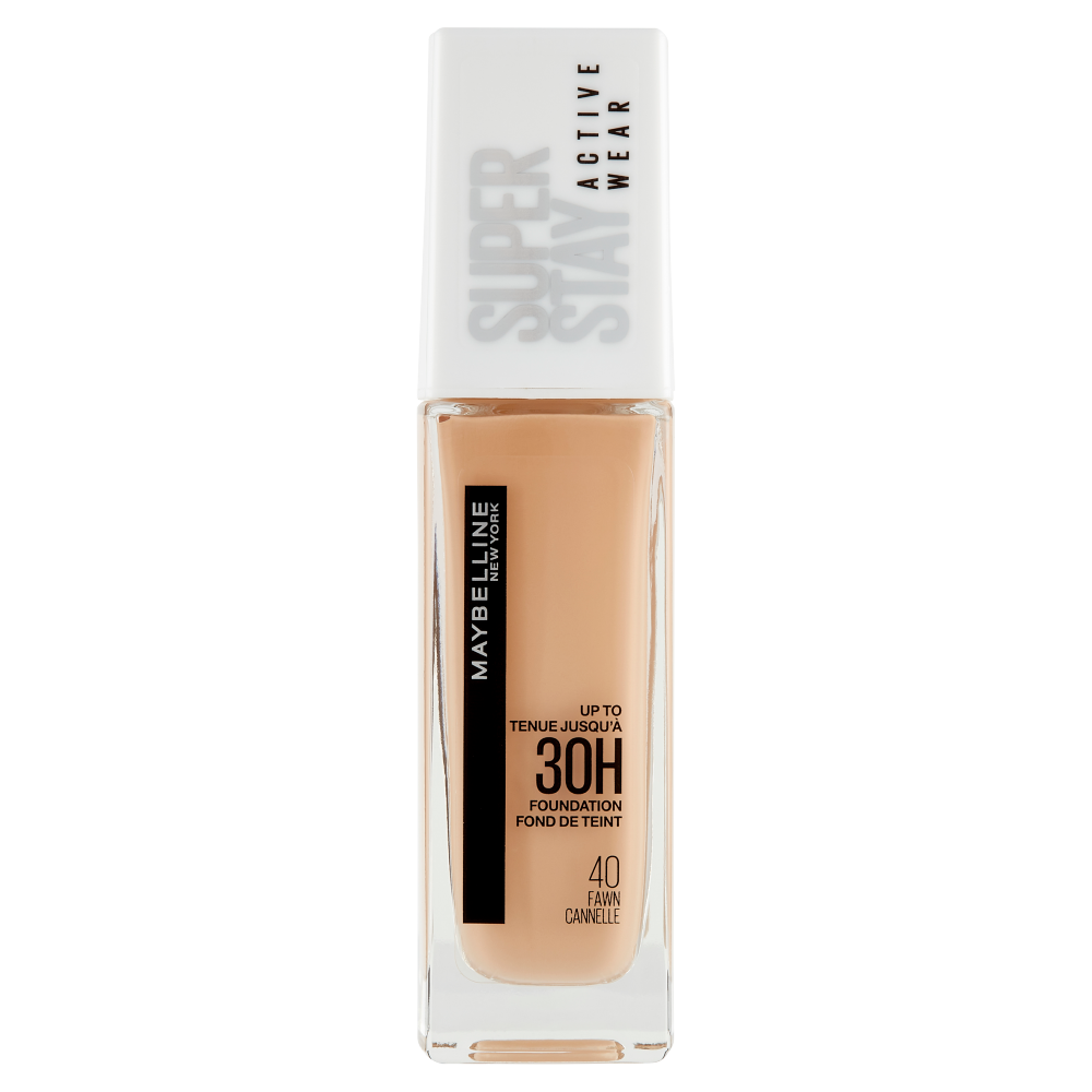 Maybelline New York Fondotinta Liquido SuperStay 30H Active Wear, Fawn (40), 30 ml