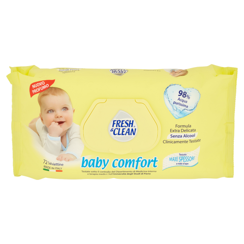 Image of Fresh & Clean baby comfort Salviettine 72 pz