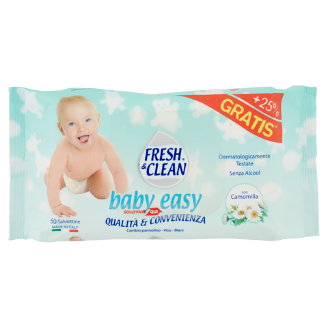 Image of Fresh & Clean baby easy Salviettine con Camomilla 60 pz