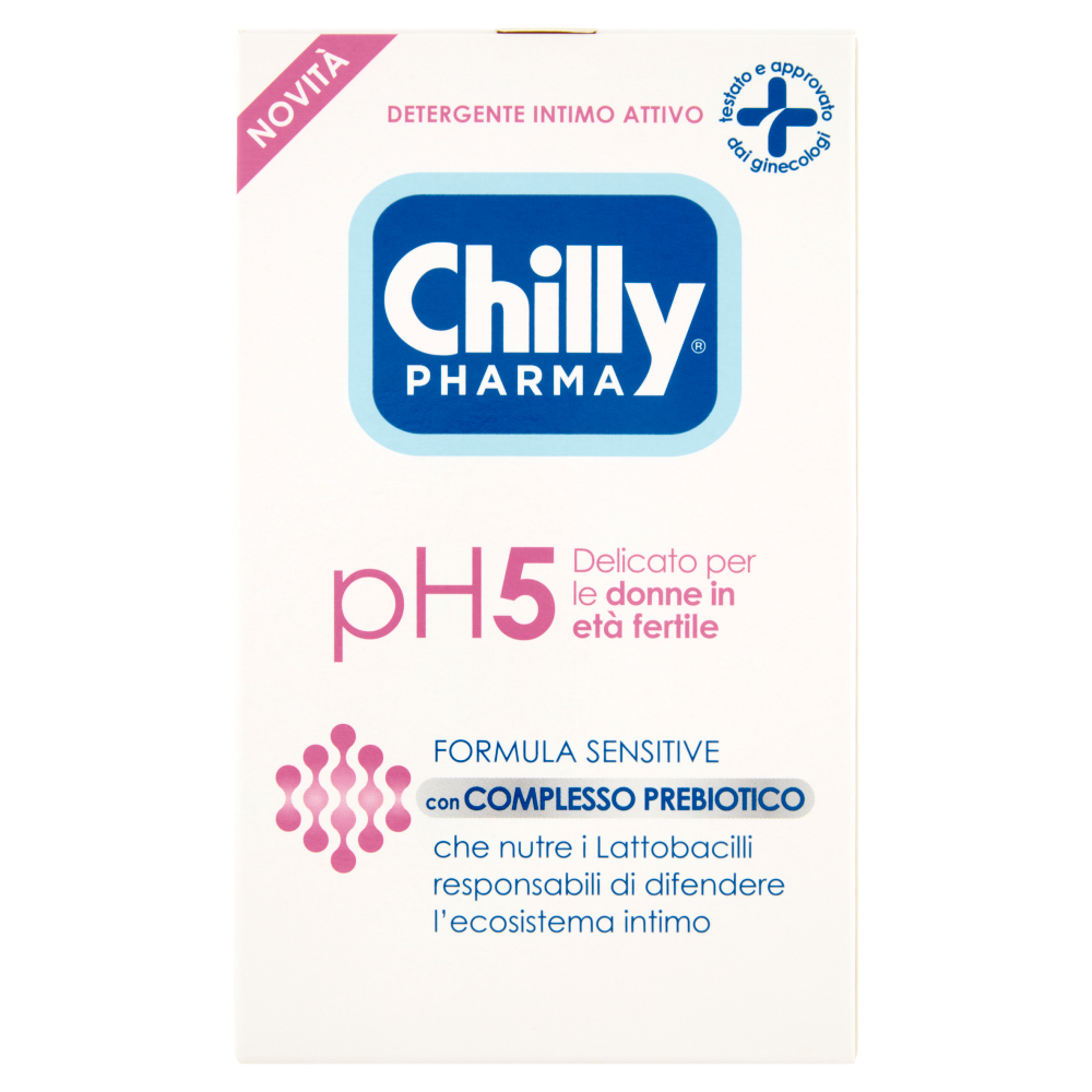 Chilly Pharma Detergente Intimo Attivo pH5 Delicato per le donne in età fertile 250 ml