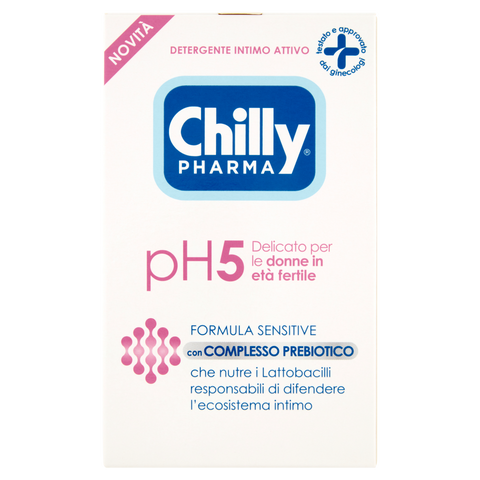 Image of Chilly Pharma Detergente Intimo Attivo pH5 Delicato per le donne in età fertile 250 ml