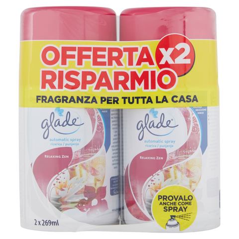 glade automatic spray ricarica relaxing zen 2 x 269 ml