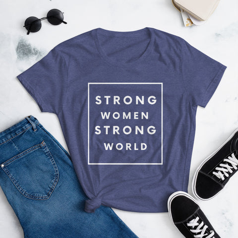 Strong Women T-shirt, Blue