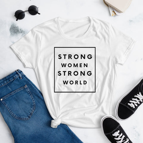 Strong Women T-shirt, White