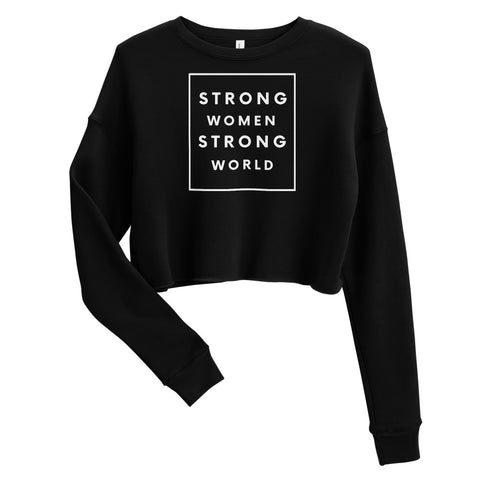 Strong Crop Sweatshirt, Black