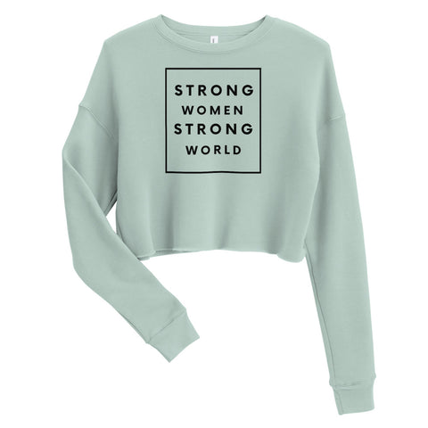 Strong Crop Sweatshirt, Green