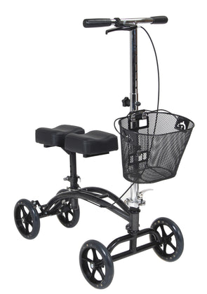 Dual Pad Steerable Knee Walker with Basket