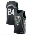 "Pat Connaughton #24 Milwaukee Bucks Black Fanatics ""Fast Break"" Replica Jersey - Statement Edition"