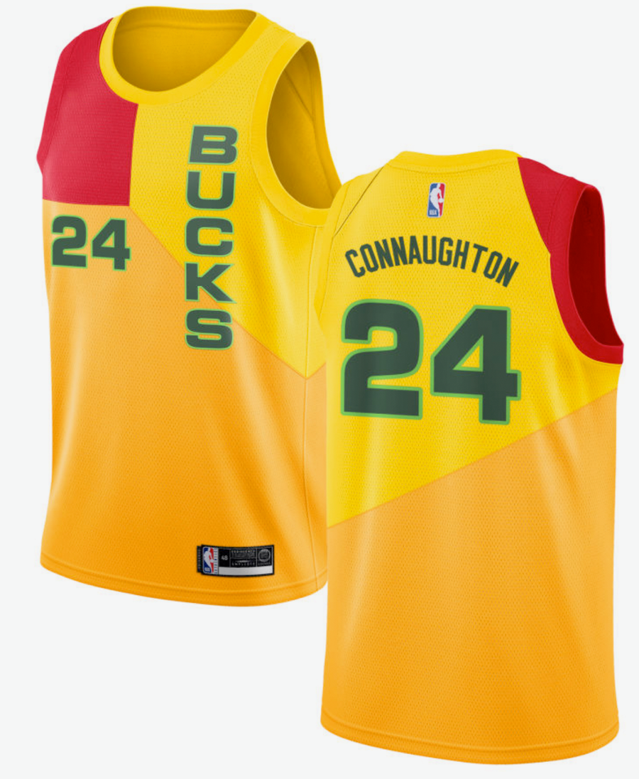 c327ac85 Pat Connaughton #24 Milwaukee Bucks Nike 2018/19 Swingman Jersey - City  Edition