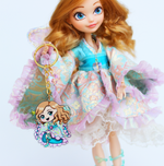 Doll Fairy Chibi Acrylic Charm Key Chain with Crystal Heart - The Doll Fairy