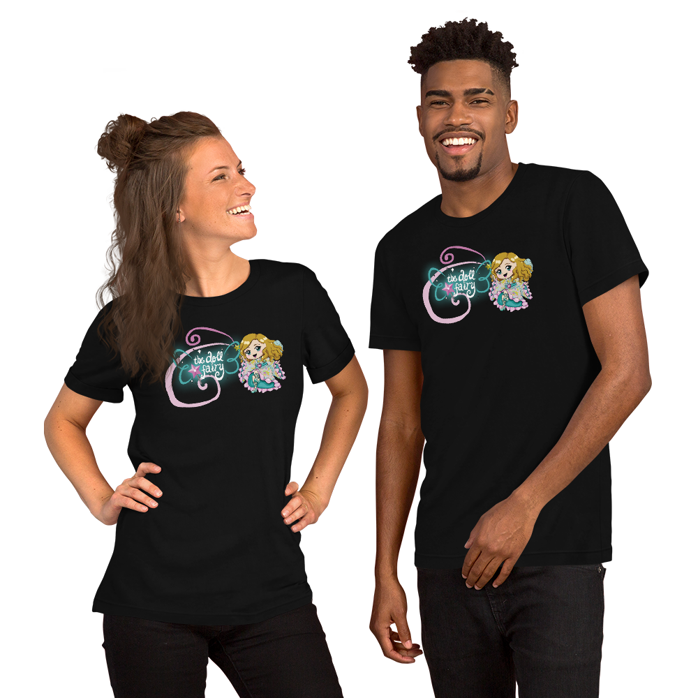 Doll Fairy Wings Short-Sleeve Unisex T-Shirt (Black) - The Doll Fairy