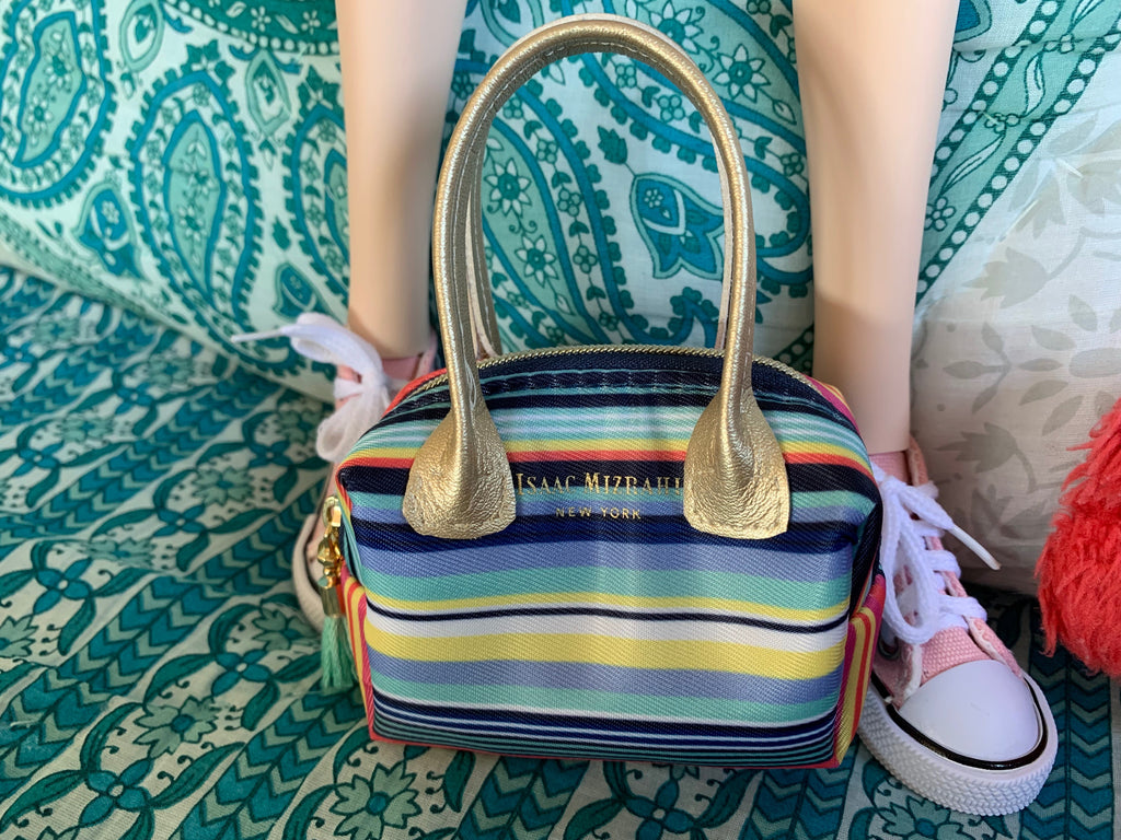 "Smart Doll ""Designer"" Striped Purse - The Doll Fairy"