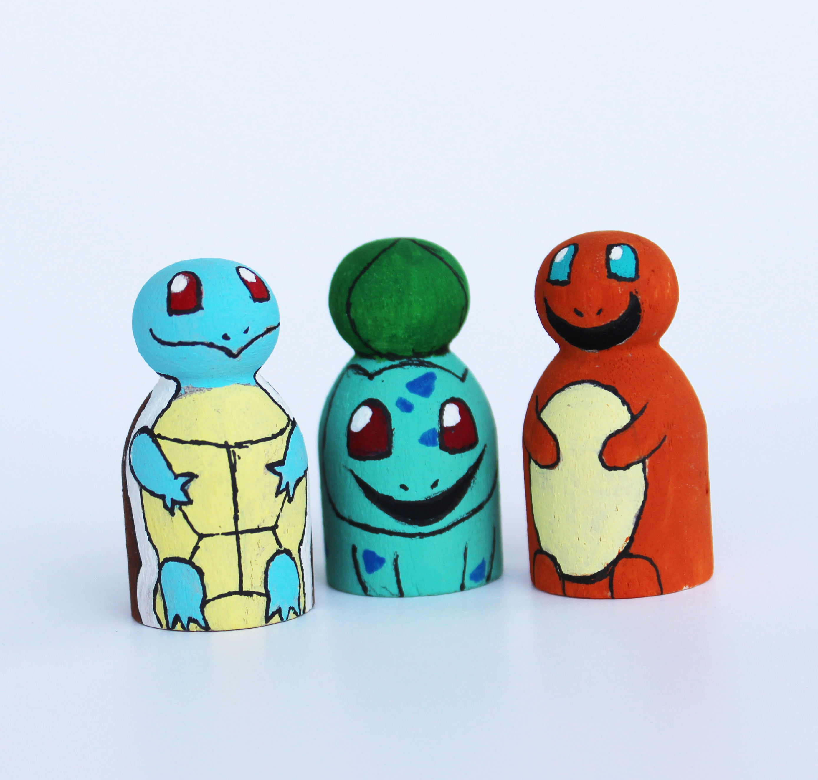 Pokémon Kanto Starters Mini Peg Dolls - The Doll Fairy